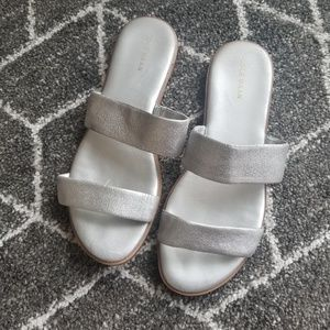 Silver Cole Haan Sandals